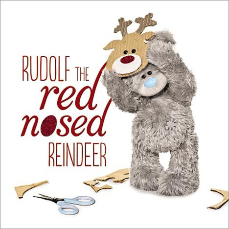3D Holographic Rudolf Reindeer Me to You Bear Christmas Card  £2.99