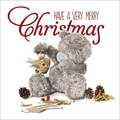 3D Holographic Very Merry Christmas Me to You Bear Card  £2.99