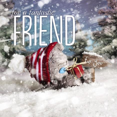 3D Holographic Friend Me to You Bear Christmas Card  £2.99