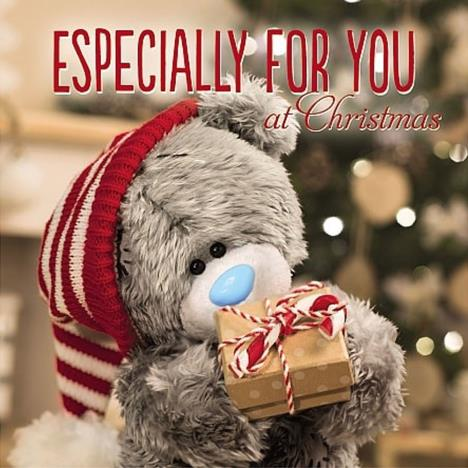 3D Holographic Bear and Gift Me to You Bear Christmas Card  £3.59