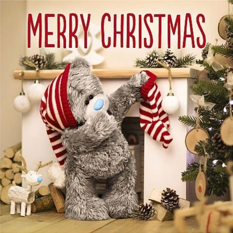3D Holographic Bear and Stocking  Me to You Bear Christmas Card  £3.59