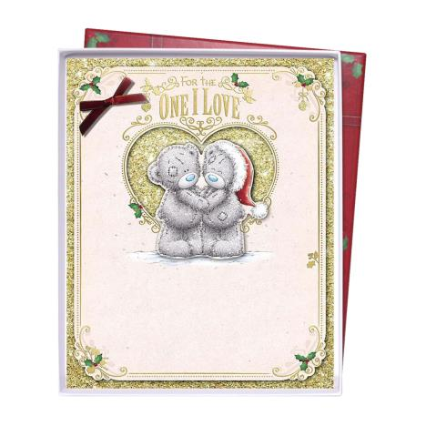 One I Love Me To You Bear Handmade Boxed Christmas Card  £6.99