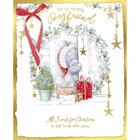 Boyfriend Me to You Bear Handmade Boxed Christmas Card  £6.99