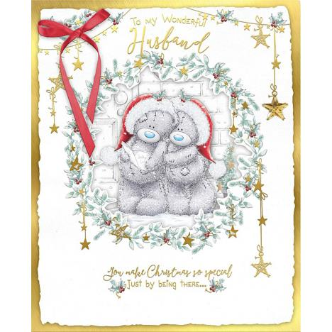 Husband Me to You Bear Handmade Boxed Christmas Card  £6.99