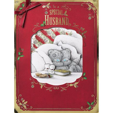 Husband Me To You Bear Luxury Boxed Christmas Card  £9.99