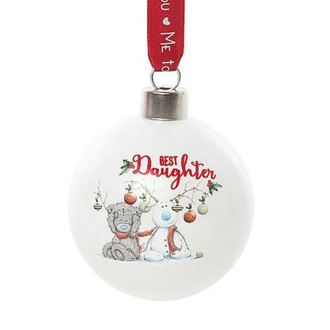 Best Daughter Me To You Bear Christmas Bauble  £4.99