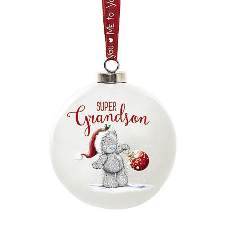 Super Grandson Me To You Bear Christmas Bauble  £4.99