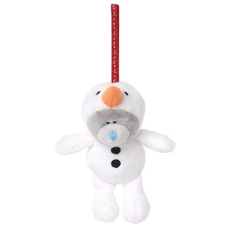 "3"" Dressed As Snowman Me to You Bear Plush Tree Decoration  £4.99"