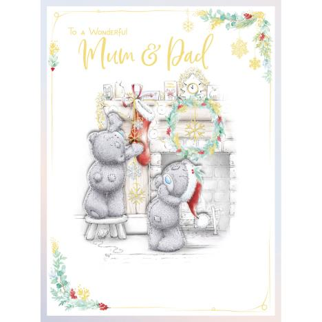 Wonderful Mum & Dad Handmade Large Me to You Bear Christmas Card  £3.99