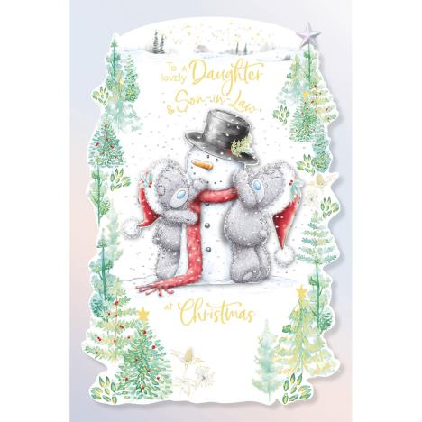 Lovely Daughter & Son In Law Handmade Me to You Bear Christmas Card  £4.25