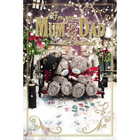 3D Holographic For You Mum & Dad Me to You Bear Christmas Card  £3.39