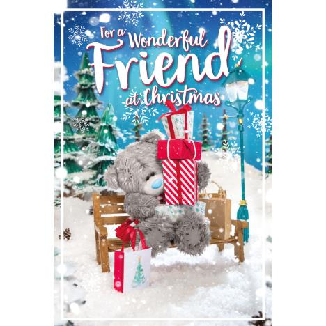 3D Holographic Wonderful Friend Me to You Bear Christmas Card  £3.39