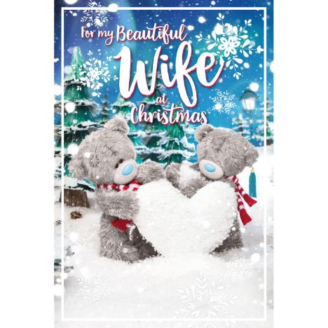 3D Holographic Beautiful Wife Me to You Bear Christmas Card  £3.39