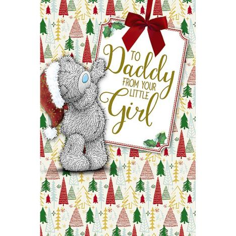 Daddy From Your Little Girl Me To You bear Christmas Card  £1.89