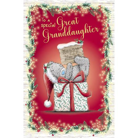 Great Granddaughter Me to You Bear Christmas Card  £1.89