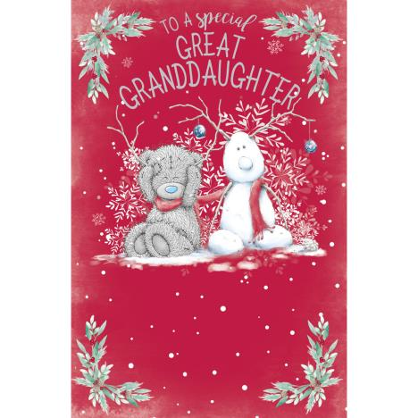 Special Great Granddaughter Me to You Bear Christmas Card  £1.89