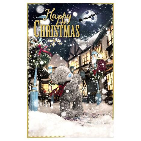 Happy Christmas Bear In Scarf Photo Finish Me To You Bear Christmas Card  £1.89