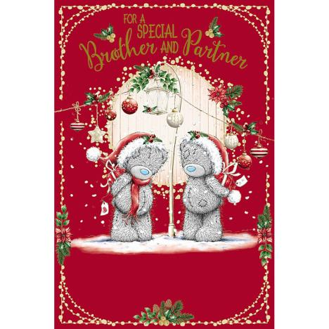 Special Brother & Partner Me To You Bear Christmas Card  £2.49