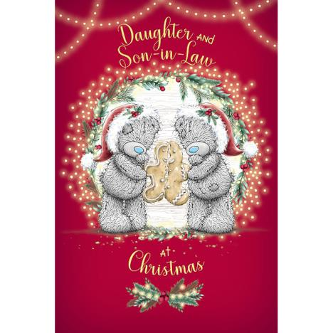Daughter & Son In Law With Gingerbread Man Me to You Bear Christmas Card  £3.59