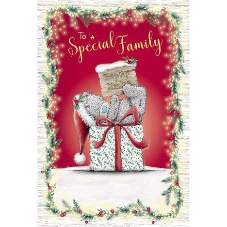 To A Special Family Me to You Bear Christmas Card  £2.49