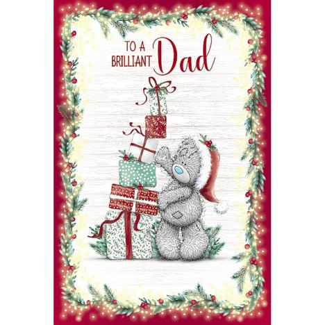 Brilliant Dad Stacking Presents  Me to You Bear Christmas Card  £3.59