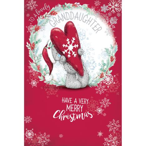 Lovely Granddaughter Me to You Bear Christmas Card  £3.59
