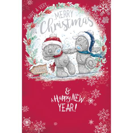 Bears Holding Hands Me to You Bear Christmas Card  £2.49