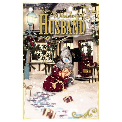 Wonderful Husband Photo Finish Me To You Bear Christmas Card  £2.49