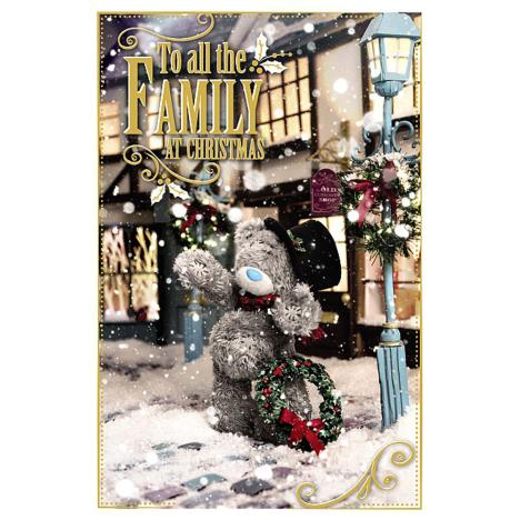 To All The Family Photo Finish Me To You Bear Christmas Card  £2.49