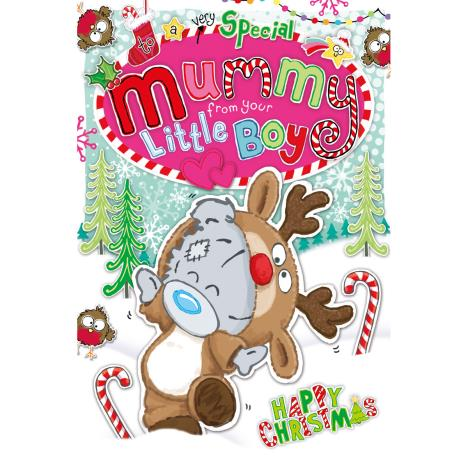 Mummy From Little Boy My Dinky Bear Me to You Bear Christmas Card  £2.49