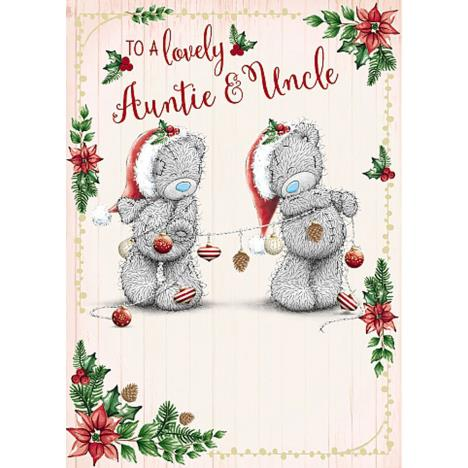 Lovely Auntie & Uncle Me To You Bear Christmas Card  £1.79