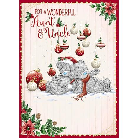 Wonderful Aunt & Uncle Me To You Bear Christmas Card  £1.79