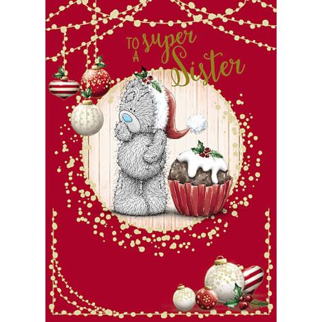 Super Sister Me To You Bear Christmas Card  £1.79