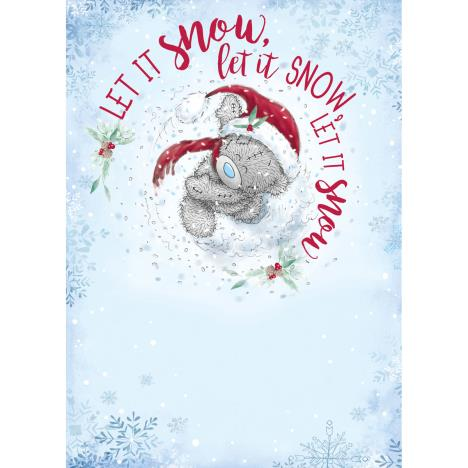 Let It Snow Me to You Bear Christmas Card  £1.79