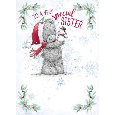 Very Special Sister Me to You Bear Christmas Card  £1.79