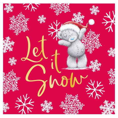 Let It Snow Me to You Bear Christmas Gift Tag  £0.40