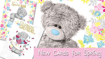 New! Spring Me to You Bear Card Range.