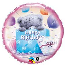 Happy Birthday Me to You Bear Balloon (Unfilled)