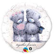 Together Forever Me to You Bear Wedding Balloon (Unfilled)