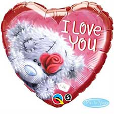 I Love You Me to You Bear Balloon (Unfilled)