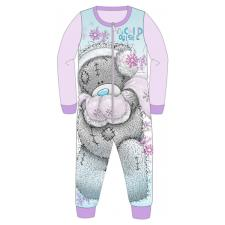 Childs Tatty Teddy Me to You Bear Fleece Onesie Pyjamas