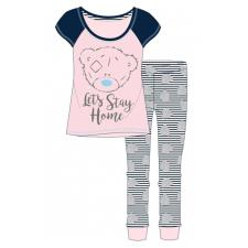 Adults Tatty Teddy Lets Stay Home Me to You Bear Pyjama Set