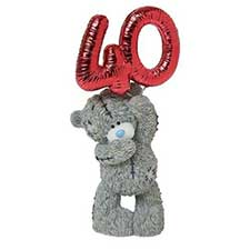 Party Time Its Your 40th Birthday Me to You Bear Figurine