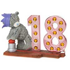 Light Up At 18 Me to You Bear Figurine