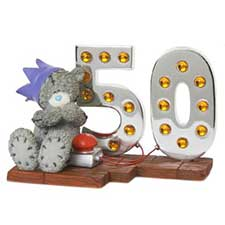 Light Up At 50 Me to You Bear Figurine