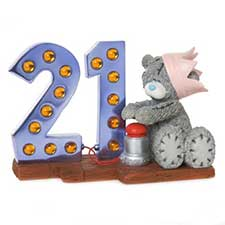 Light Up At 21 Me to You Bear Figurine