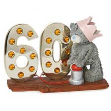 Light Up At 60 Me to You Bear Figurine