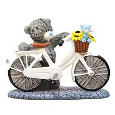 Bicycle Made For Two Me to You Bear Figurine