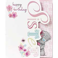 Sister Me to You Bear Birthday Card