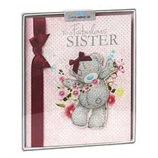 Sister Birthday Me to You Bear Handmade Boxed Card